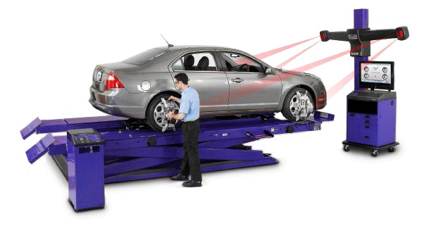 Dexel use sophisticated geometry equipment to diagnose vehicle problems