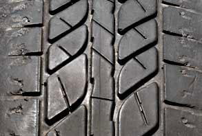 Cracks or cracking on the tyre could indicate that the tyre has aged  - if you find this damage contact your local Dexel Tyre & Auto Centre branch